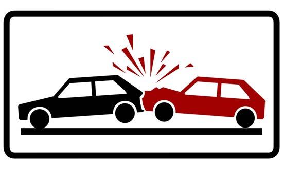 two cars crashing